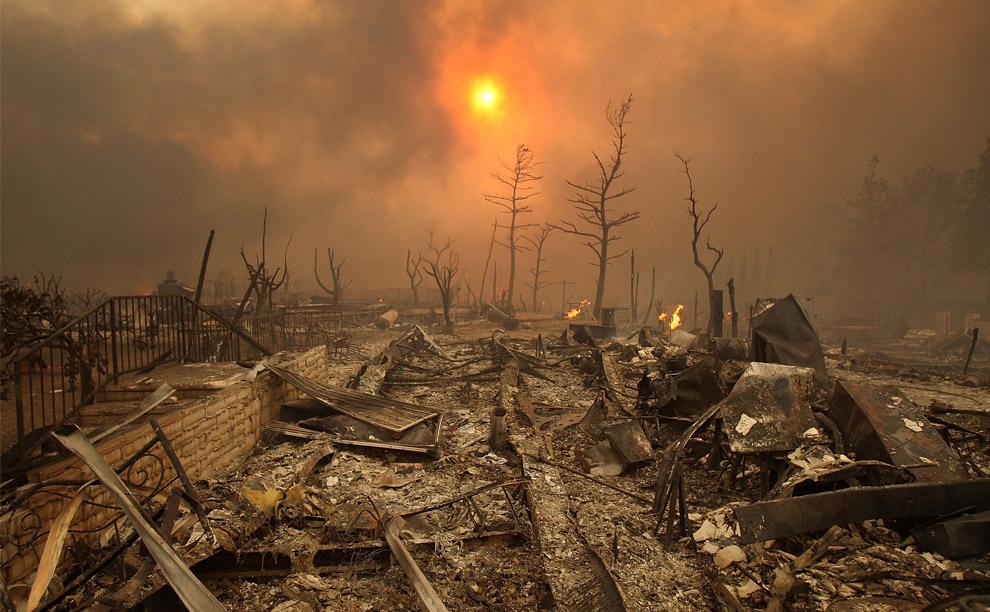 Impresionantes imágenes de los incendios que asolan California.